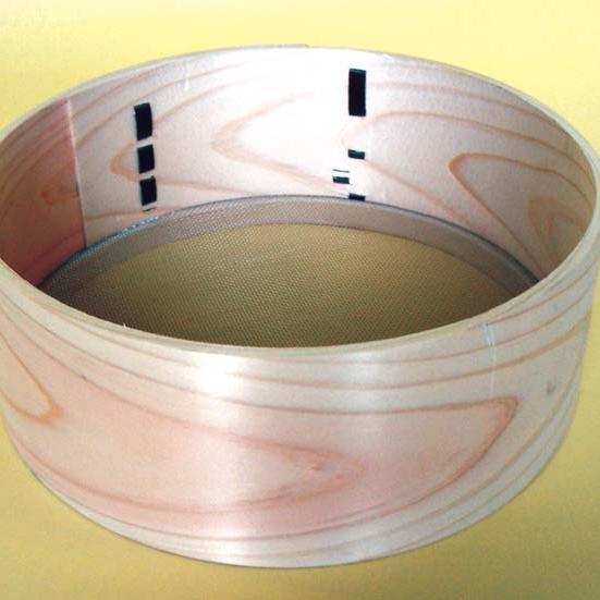 木枠フルイ真鍮網21cm