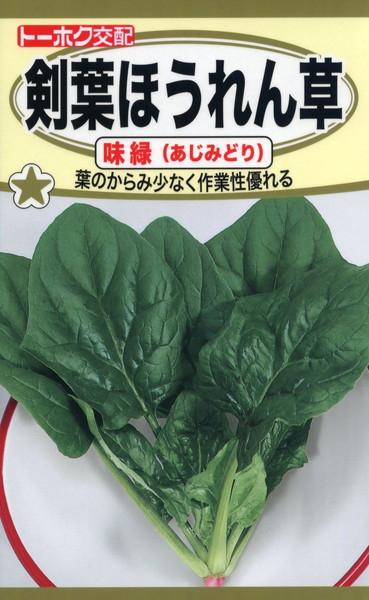 F1 剣葉 ほうれん草 味緑